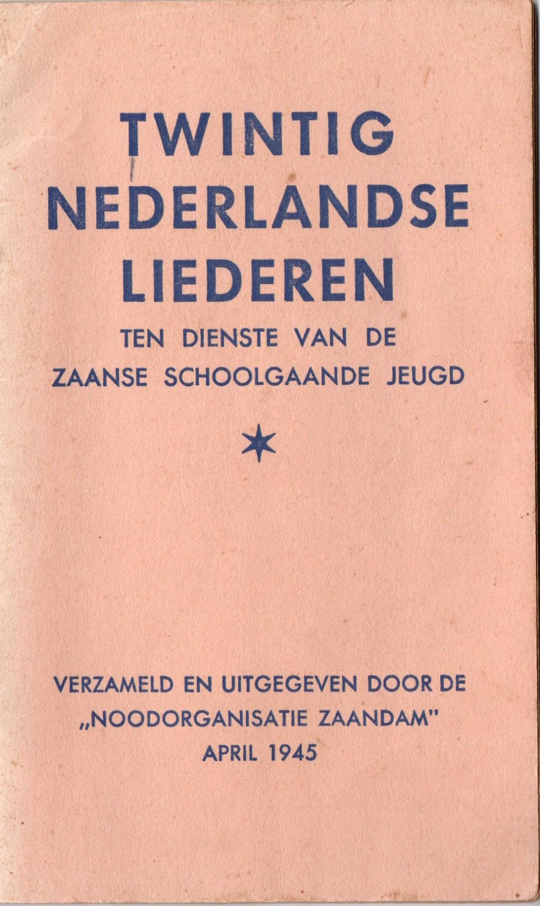 07 Twintig Nederlandse liederen Zaandam 1